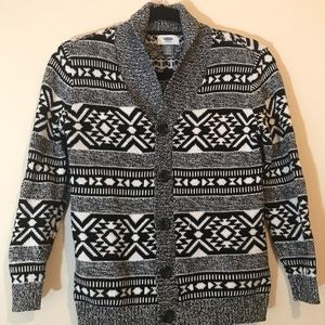 Old Navy Aztec Print Cardigan